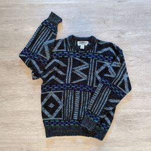 Expressions VTG Men's Black & Gray Sweater SZ L